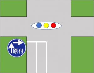 二段階標識図
